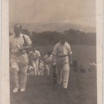 Players leaving the school cricket field