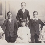 Edwin (second from left) with other Scholarship winners from Alder Hill School in Earby, 1919.
